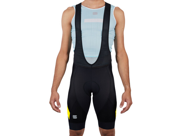 Sportful Neo Bib Shorts Heren, black yellow fluo